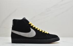 耐克NIKE BLAZER MID PRM手工缝纫马克线开拓者经典复古运动休闲鞋