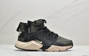 耐克华莱士 Nike Air Huarache Run Ultra 华莱士内置气垫增高 高帮拉链跑鞋