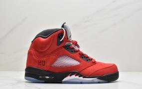 """乔丹Air Jordan 5 """"Raging Bull""""公牛 AJ5中帮实战篮球鞋"""
