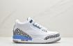 """乔丹 Air Jordan 3 """"UNC"""" 北卡蓝 AJ3 乔丹3代 aj3 乔3 白蓝文化篮球鞋"""