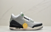 """耐克Air Jordan 3 Retro""""Chlorophyll""""迈克尔·乔丹AJ3代中帮古复休闲运动文化球篮鞋""""叶素绿灰绿手稿"""""""
