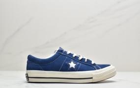 """匡威Converse One Star Suede OX""""Grey White""""一星系列经典低帮复古皮革休闲百搭硫化板鞋"""
