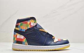 乔丹AIR JORDAN 1 RETRO HIGH RTTG AJ1乔丹一代 经典高帮创意涂鸦色差文化百搭休闲运动篮球鞋