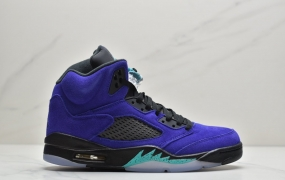 """乔丹Air Jordan 5 Retro""""Alternate Bel-Airk"""" 白紫葡萄新鲜王子 乔丹AJ5代中帮复古休闲文化篮球鞋"""