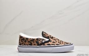 加绒系列安娜海姆 Vans范斯 Slip-On懒人套一脚蹬休闲鞋加绒低帮帆布休闲运动硫化滑板板鞋