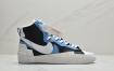 "SACAI联名 x Nike Blazer High""White/Grey/Black""重叠设计前卫开拓者高帮百搭板鞋"