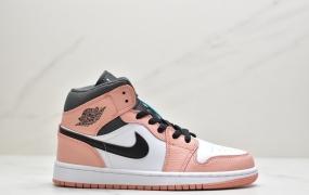 """耐克Nike Air Jordan 1 Mid GS""""艳遇粉AJ1中帮篮球鞋"""