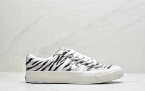 日本限定 匡威 Converse JACK STAR&BARS ZEBRASUEDE斑马纹白底双围条板鞋