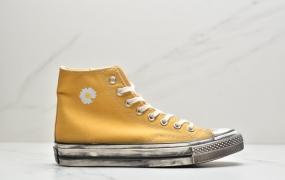匡威 Converse Chuck 1970s 原盒真标 权志龙小菊花系列 做旧硫化工艺 高帮帆布鞋