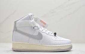 """耐克Nike Air Force 1 '07 Premium """"Toll Free"""" 空军一号白色高帮外加氧化做旧运动板鞋"""