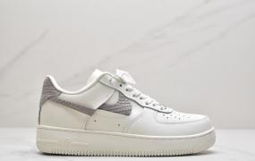 """耐克Nike Air Force 1 空军一号 """"白浅灰断勾"""" 低帮运动板鞋"""