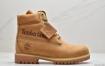 Timberland 印字全小麦色Logo高帮马丁靴