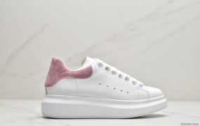 Alexander McQueen/亚历山大麦昆 松糕鞋厚增底高小白鞋