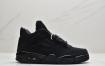 """乔丹 Air Jordan 4 Retro """"Black Cat"""" 黑武士 黑猫中帮文化实战篮球鞋"""