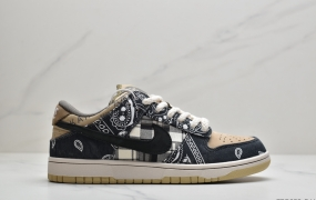 耐克Travis Scott × SB Dunk Low 腰果花配色低帮板鞋