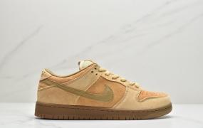 """耐克Nike SB Dunk Low Pro """"Wheat Mocha"""" 小麦色 落叶黄低帮运动滑板鞋"""