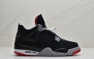 """耐克Nike Air Jordan 4 Retro Bred """"黑红公牛"""" AJ4 乔4 迈克尔·乔丹AJ4代中帮复古休闲运动文化篮球鞋"""