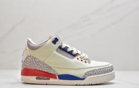 """乔丹 Air Jordan 3 Retro """"Knicks""""AJ3 尼克斯乔丹3代白蓝橘篮球鞋"""