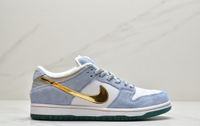 "耐克Sean Cliver x Nike SB Dunk Low ""Holiday Special"" 冰雪奇缘 蓝色情人节滑板鞋"
