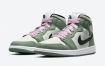 Air Jordan 1荷兰绿色配粉红色花边鞋面