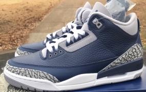 "Air Jordan 3""午夜海军""配色盒发售"
