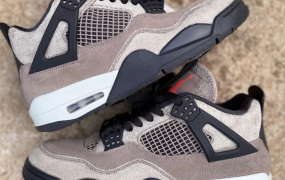 "Air Jordan 4"" Taupe Haze""去除了裂纹层"