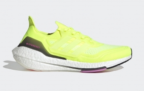 "adidas Ultra Boost 2021"" Solar Yellow""官方照片"