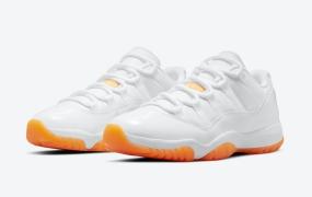 """Air Jordan 11 Low"""" Citrus""""的官方照片"""