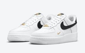 Nike Air Force 1 Low金色绣花logo