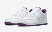 Nike Air Force 1 Low Covered紫色缝线