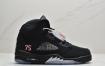 """乔丹Air Jordan 5 Retro """"PSG"""" 75号刺绣 大巴黎 乔丹AJ5代中帮复古休闲文化篮球鞋"""