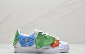 Melting Sadness x 阿迪达斯Adidas Originals Superstar米白红/情人节限定贝壳头板鞋
