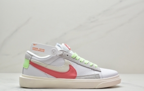 "SACAI x Nike Blazer Low""White/Magma/Orange""2021ss春夏限定 开拓者低帮运动板鞋"