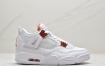 """耐克Nike Air Jordan 4 Retro """"Orange Metallic"""" 白橙 乔4 迈克尔·乔丹AJ4代中帮复古休闲运动文化篮球鞋"""