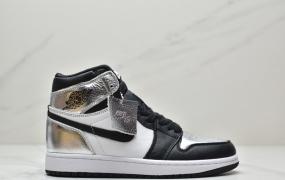"""乔丹Air Jordan 1 High """"Silver Toe""""""""Metallic Silver""""黑银脚趾 AJ1乔丹一代高帮篮球鞋"""