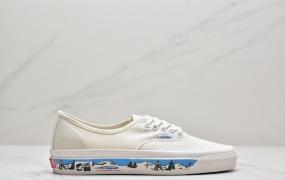 万斯Vans Authentic 44 DX 万斯 牛奶白麂皮低帮硫化帆布鞋板鞋