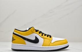 乔丹Air Jordan 1 Low 白橙湖人AJ1乔1低帮运动休闲板鞋 篮球鞋