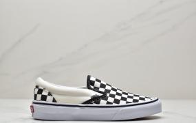 万斯Vans Classic Slip-On 万斯一脚蹬棋盘格子低帮硫化板鞋