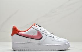 耐克Nike Air Force 1'07 GS WhiteRed/Black空军一号经典低帮百搭休闲运动板鞋