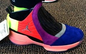"Air Jordan 19 ""Multi-Color""样本照片"