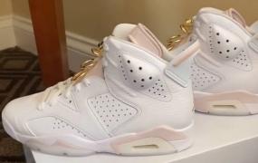 """第一眼:女款 Air Jordan 6 """"Gold Hoops"""""""