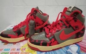 """耐克Nike Dunk High """"Red Camo""""细节赏析"""