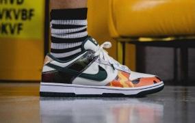 """Nike Dunk Low """"Multi Camo"""" 上脚照片"""