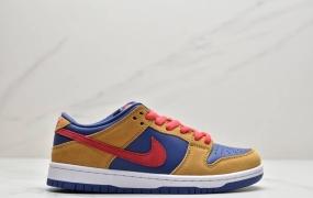 """耐克 Nike SB Dunk Low Pro""""Reverse Papa Bear""""扣篮系列低帮休闲运动滑板板鞋""""棕红蓝熊爸爸"""""""