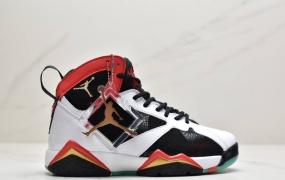 乔丹 Air Jordan AJ7 Cspace 紫禁之巅 中国祥云 夜光 多色素元拼接 过通波尔多酒红色 男子篮球战靴