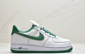 """耐克Nike Air Force 1'07 Canvas""""White/Black 3M""""空军一号经典低帮百搭休闲运动板鞋 帆布白黑缝线"""