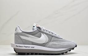 耐克Fragment Design x Sacai x LDWaffle 联名解构重叠设计前卫华夫走秀休闲运动鞋