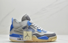 "Off-White x Air Jordan AJ4 Retro'Cream/Sail'""OW联名蝉翼黑灰红""男子实战篮球鞋"