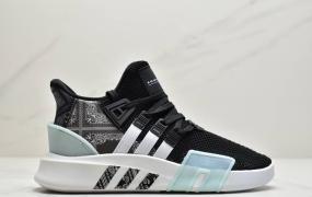 阿迪达斯 三叶草新品 Adidas EQT Basketball ADV 系列街头篮球短筒针织慢跑鞋