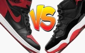 """更好的""""Bred"""" Air Jordan:Air Jordan 1 或 Air Jordan 11"""